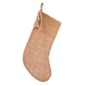 Burlap Stocking with Tassel