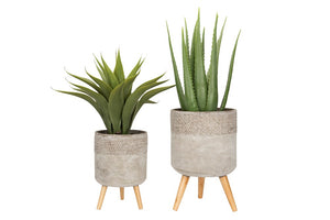 Cement Planter Set