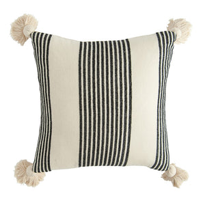 Black + White Stripe Pillow