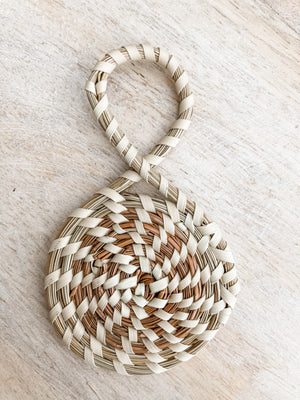 Authentic Sweetgrass Circle Ornament