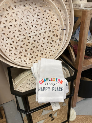 """Charleston is my Happy Place"" Dish Towel"