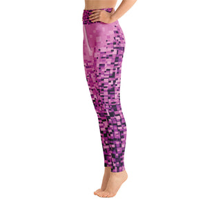 Pixel (Pink) - Yoga Leggings
