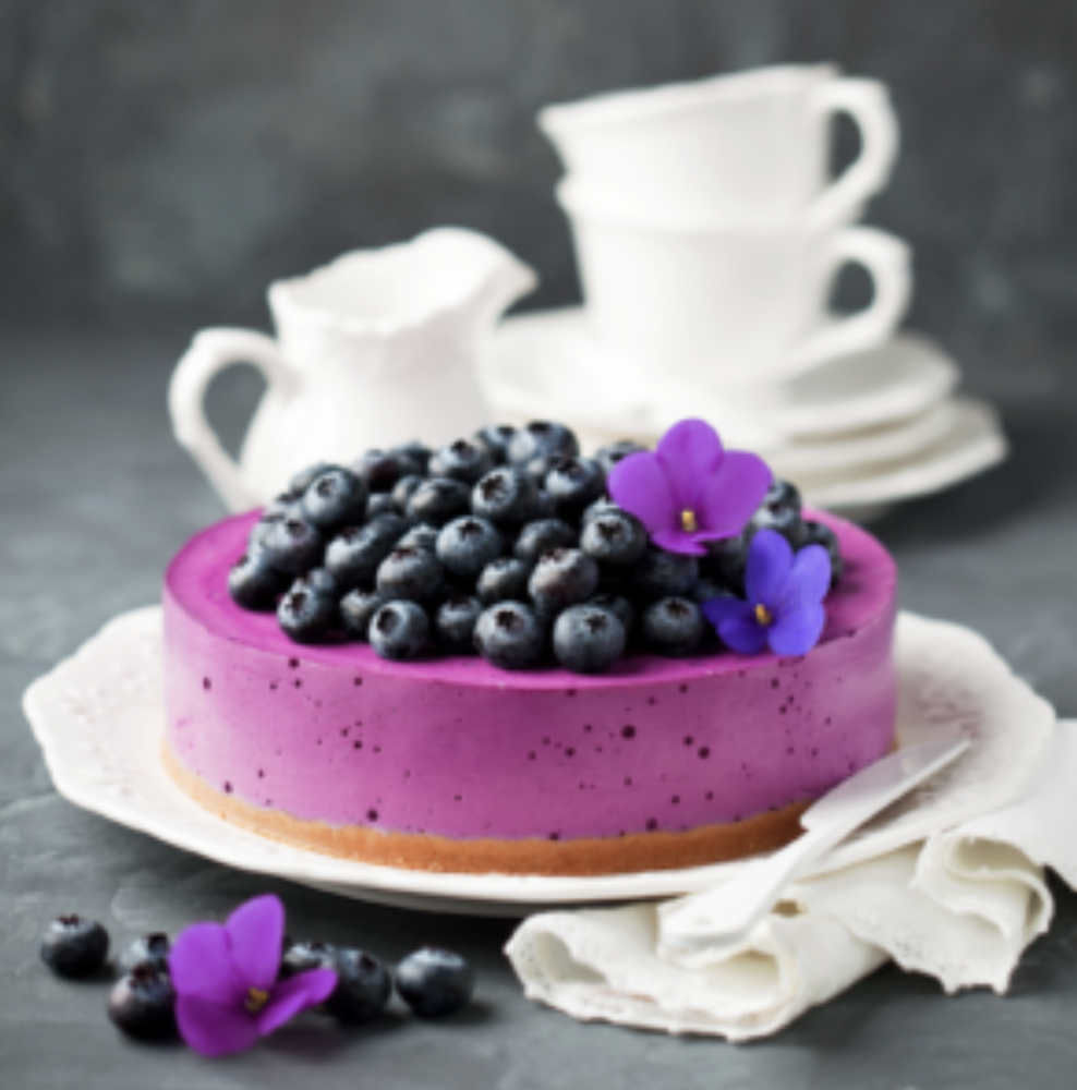 VEGAN: No-Bake Blueberry Cheesecake