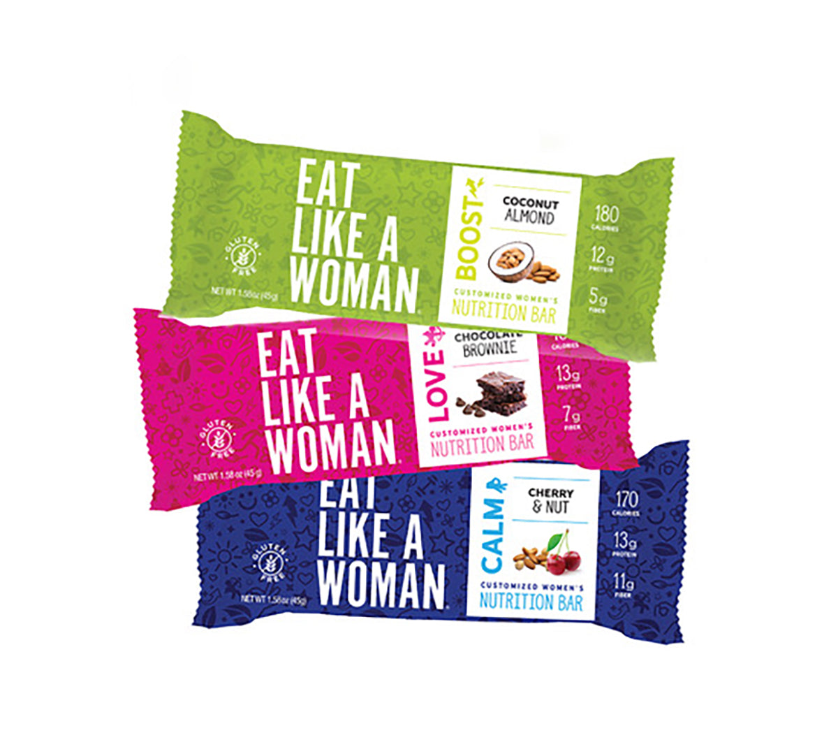 Assorted Flavors 18-pack: 3 Delicious Flavors! Chocolate Brownie, Coconut Almond & Cherry Nut