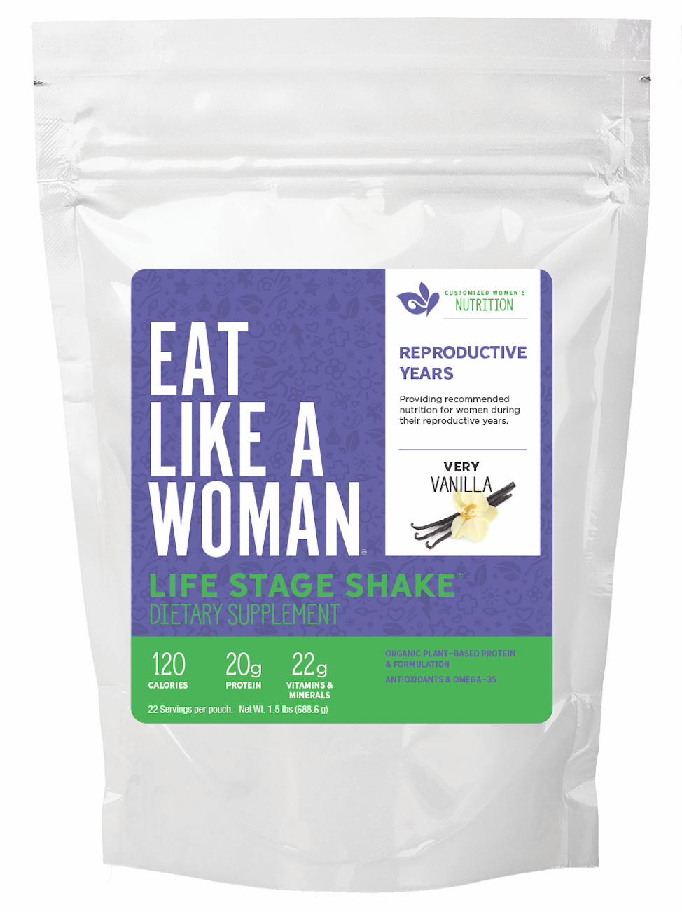 Life Stage Shake™ REPRODUCTIVE YEARS, 1.5 lbs, 22 servings
