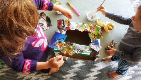 Cutting and glue activity for children