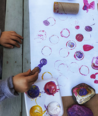 stamps activity for tots and preschool