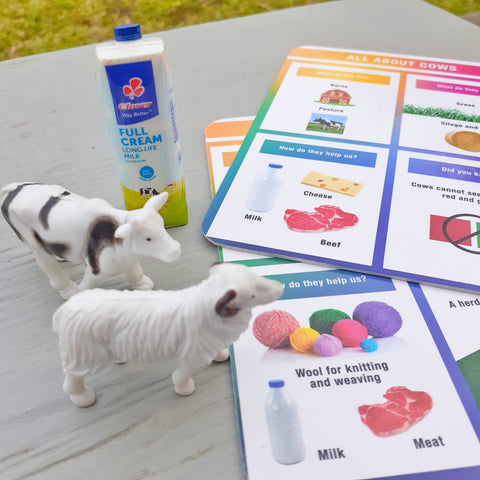 Sorting product by Info card in Farm Animals set