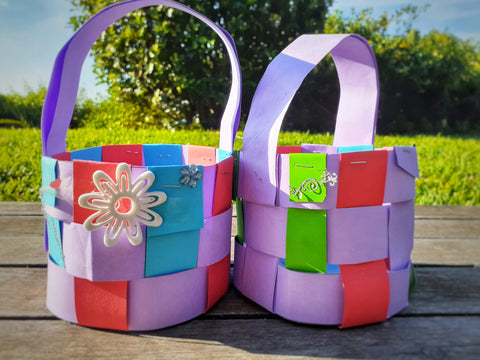 easy Easter eggs basket