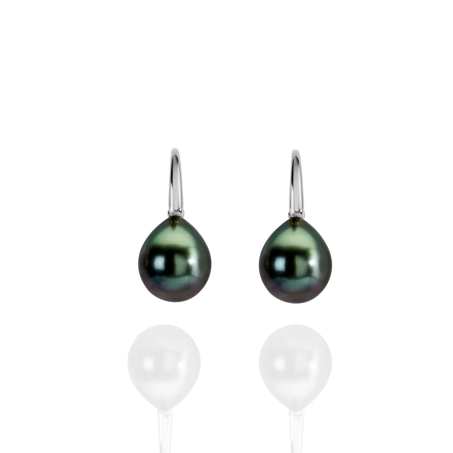 Tahitian pearl drop earrings