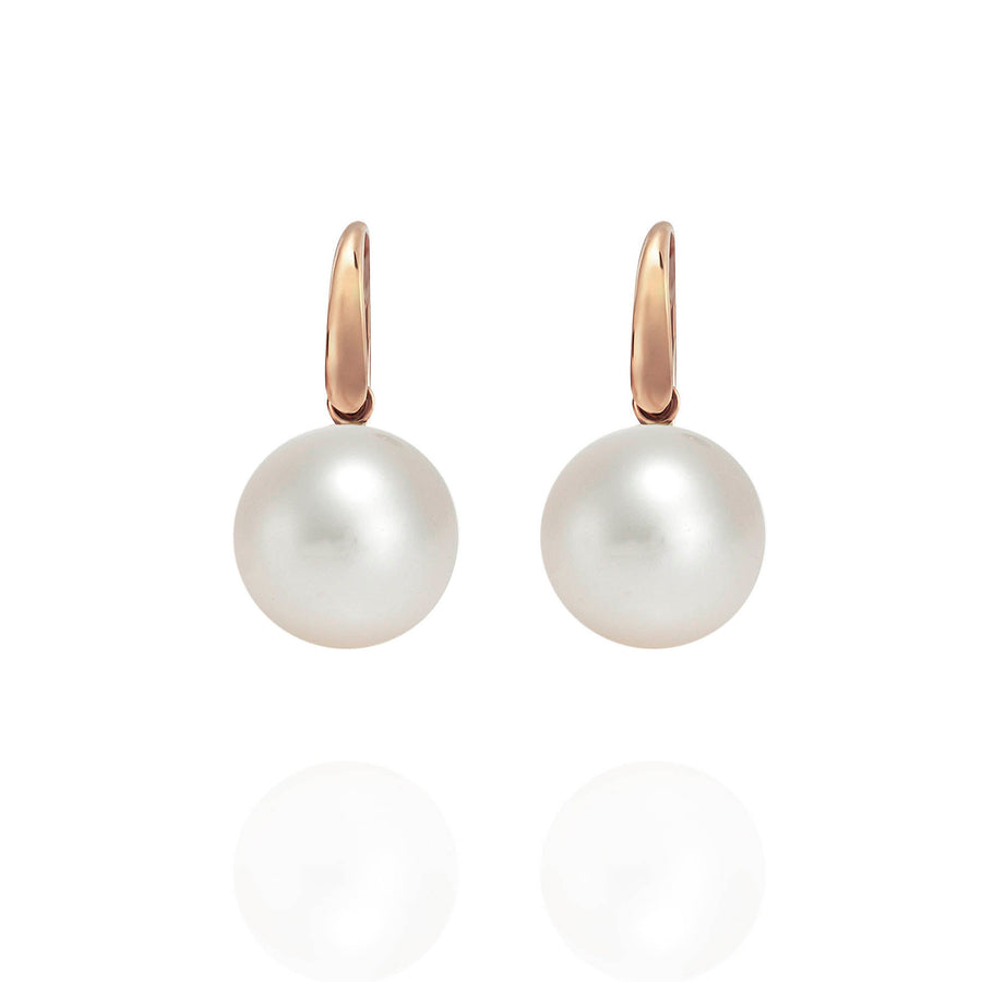 Palomino South Sea Pearl Earrings with 18ct Rose Gold Shepherds Hooks