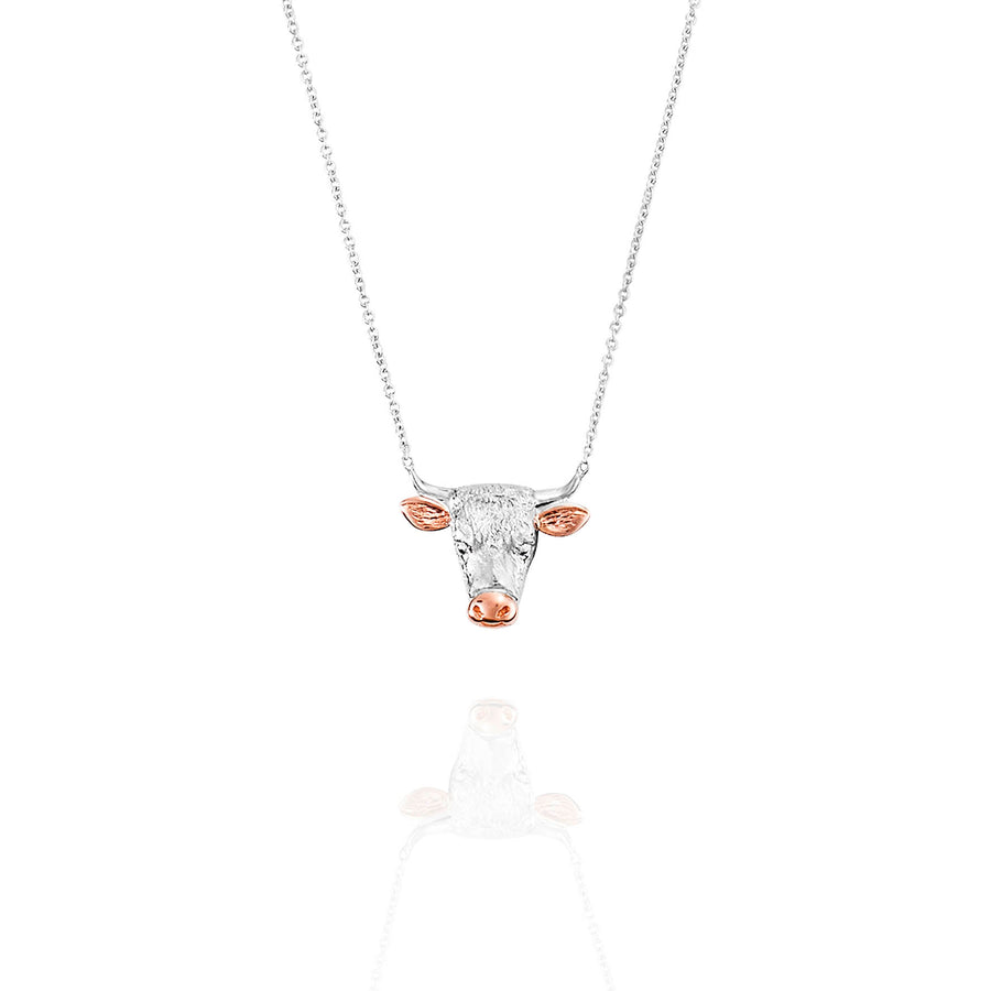 Hereford Pendant in Two Tone 18ct White and Rose Gold