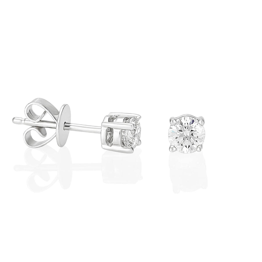 Palomino Solitaire Diamond Stud Earrings in 18 ct White Gold 0.50 ct