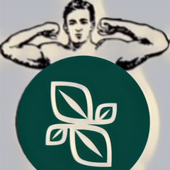Muscle Man with NuSapia logo