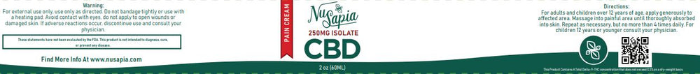 CBD PAIN RELIEF LOTION (250MG ISOLATE)