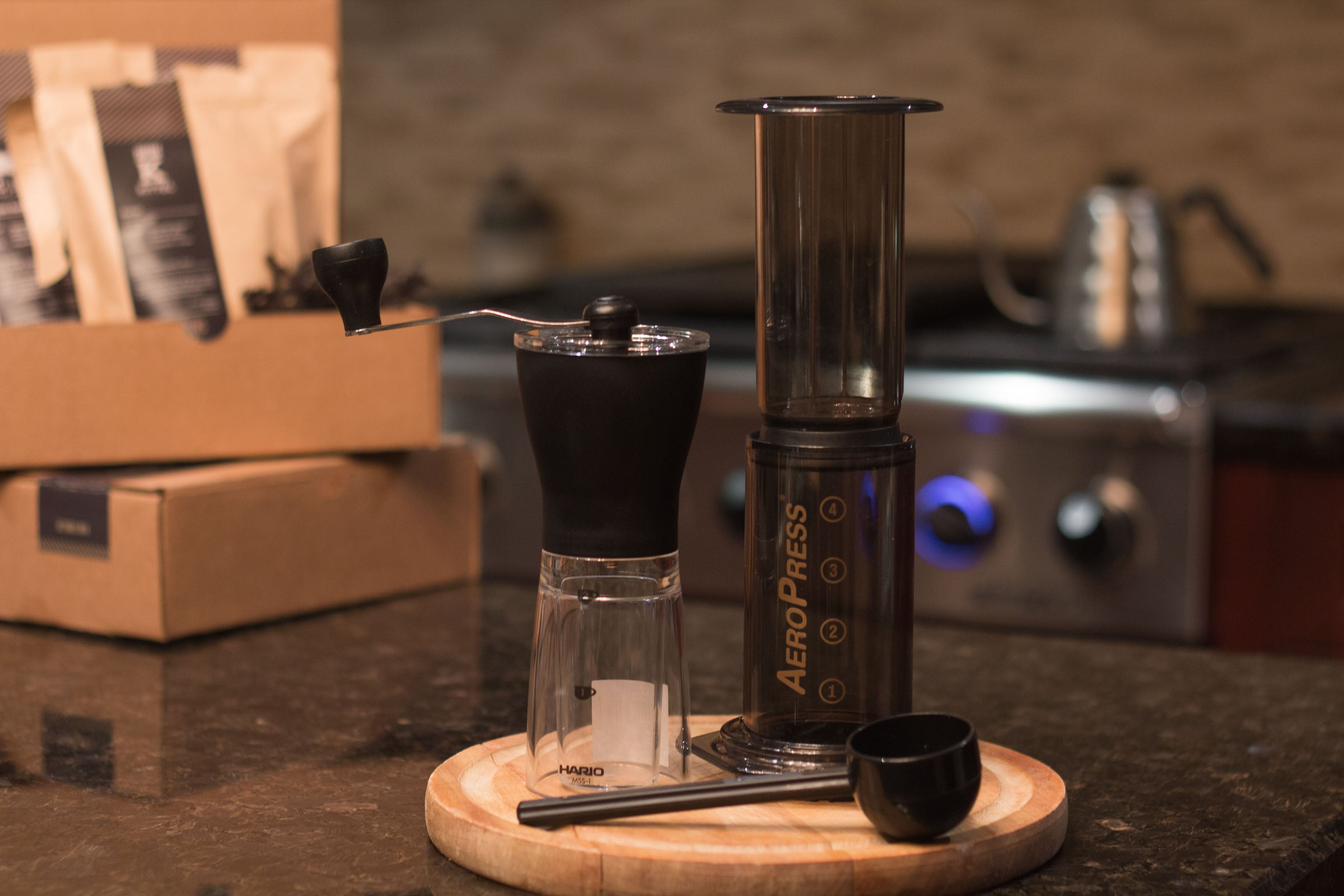 Aeropress Grinder and the Roasters Pack