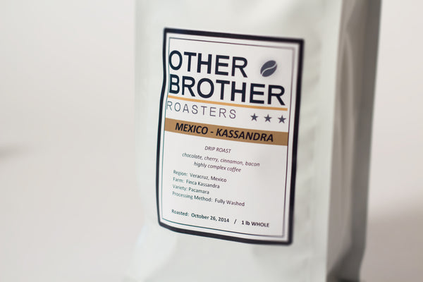 Finca Kassandra Bag Close Up by Other Brother Coffee Roasters