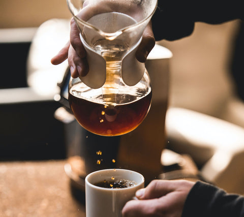brewing up a pourover