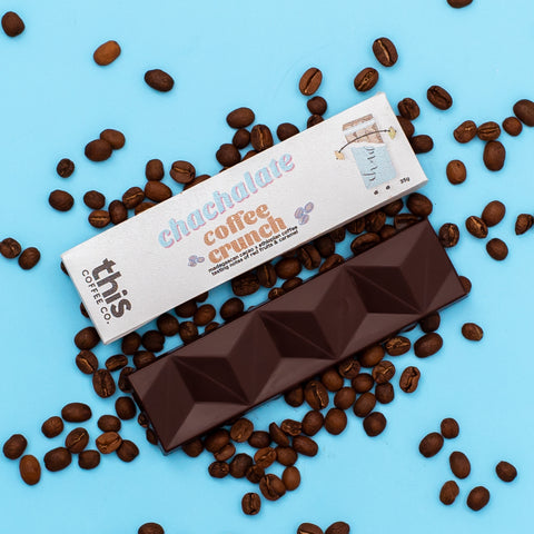 Coffee Crunch Chocolate Bar by Chachalate & This Coffee Co