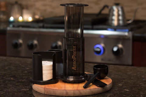 Aerobie AeroPress Coffee Maker (with 350 Filters, Funnel, Scoop & Stirrer)