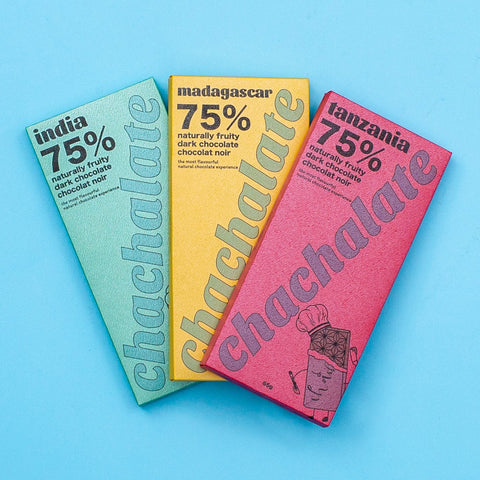 3-Pack of Chachalate Chocolate Bars (65g x 3 Bars)