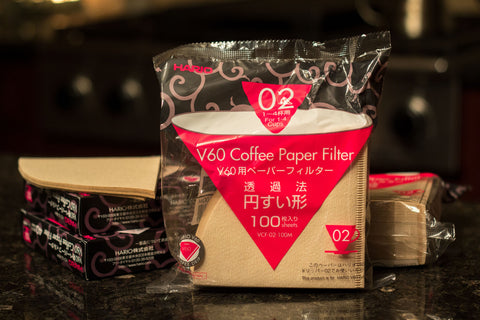 Hario V60-02 Unbleached Paper Filters (100 Pack)