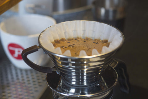 Kalita Wave 185 Stainless Steel Dripper (2 Cup) + 100 Kalita Wave Filters