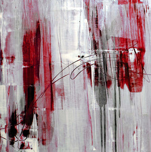 Grey and red illustrative abstract