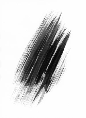 Black Abstract on White