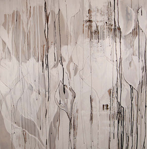 Beige paint-drip abstract
