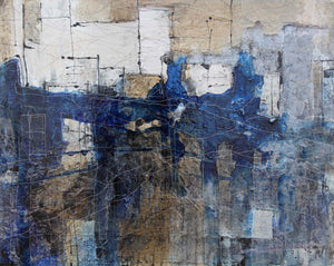 Blue and beige abstract