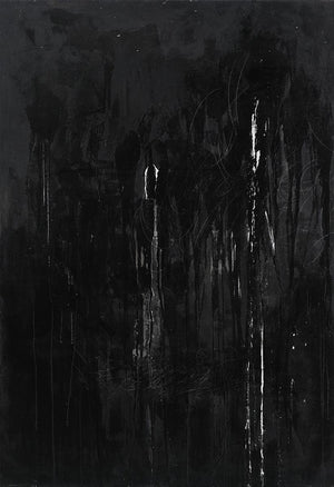 Very dark abstract of black and gray