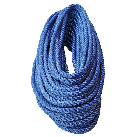 "All Gear 3-Strand Twisted High Strength Polyester Bull Rope - 1/2"" x 150'"