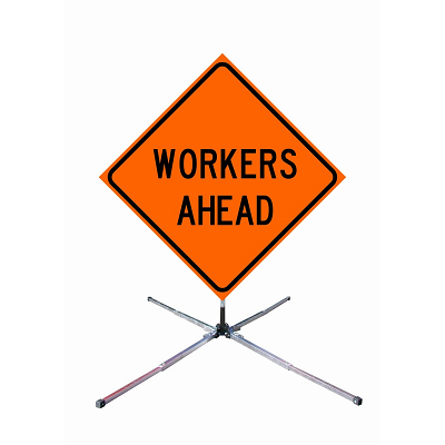 "TS-KIT-WAS - 36"" Traffic Workers Ahead Sign with Collapsible Stand"