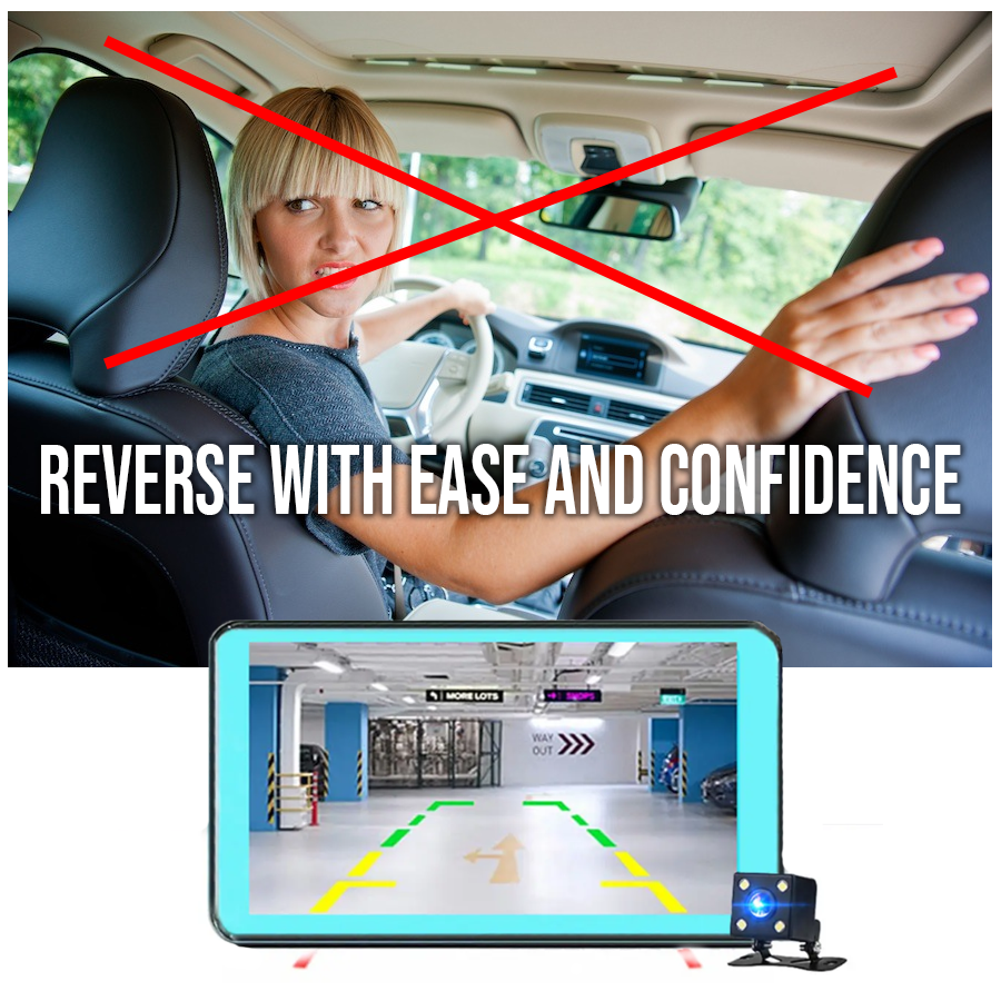 RecMe™ Rear View DVR Reverse Camera Dual Dash Cam Car Black Box used for reversing