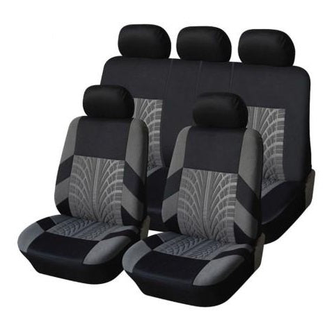 SeatGuard™ Universal Car Seat Covers 9 Piece Set-Front & Back Seats Protector