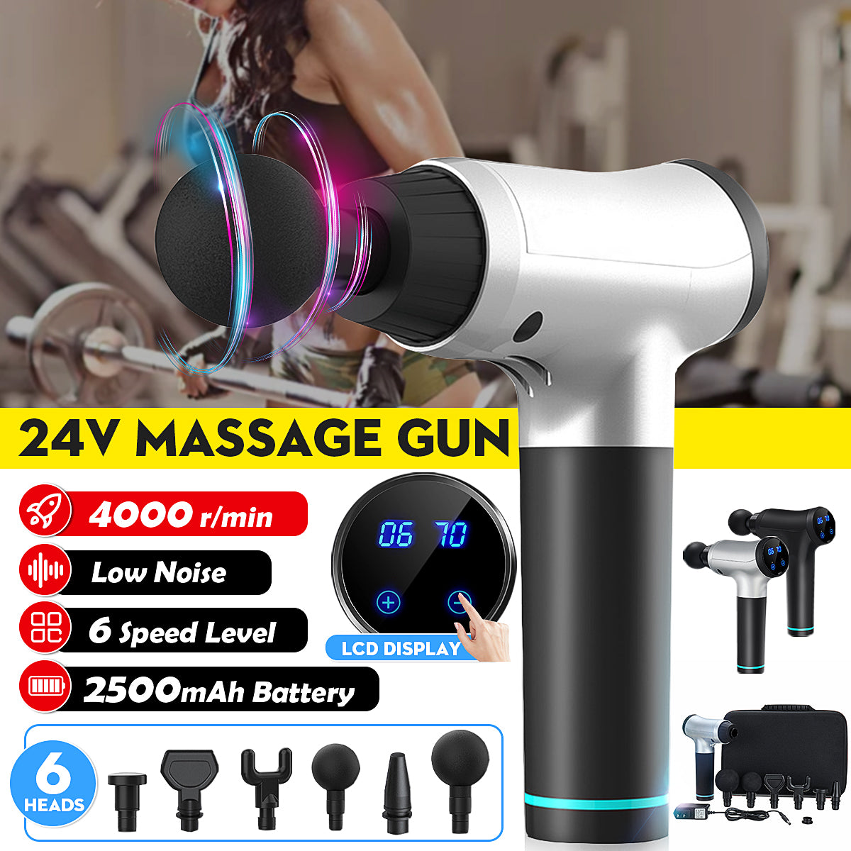 ZenC™ 6-Speed Professional Full Body Massager Deep Tissue Massage Machine