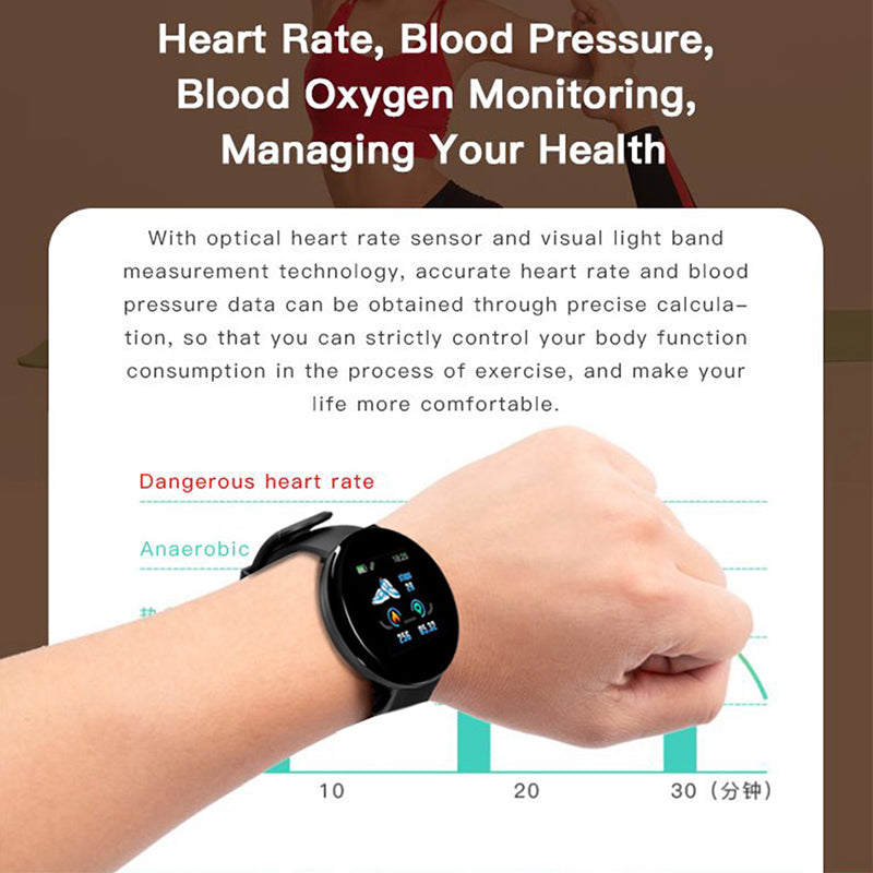 MyVital™ Blood Pressure Monitor & Heart Rate USB-Charged Watch