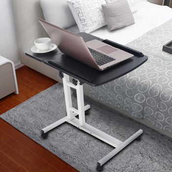 HoldMe™ Bedside Laptop Table Adjustable Mobile Desk with Wheels for Bed/Couch next to the bed