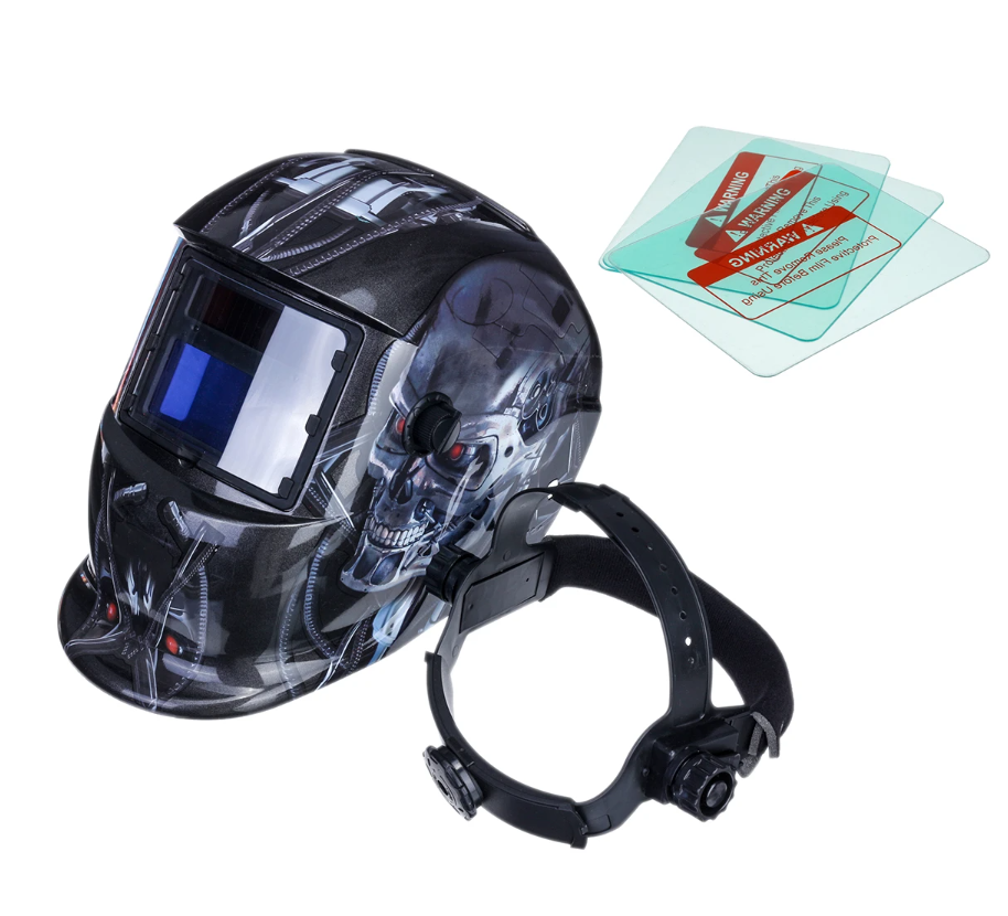 DarkenX™ Auto Darkening Adjustable Welding Helmet Solar Shade Hood Lens comes with 3 extra lenses