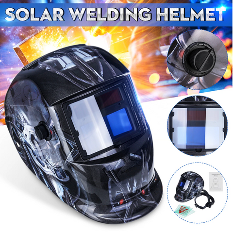 DarkenX™ Auto Darkening Adjustable Welding Helmet Solar Shade Hood Lens presented