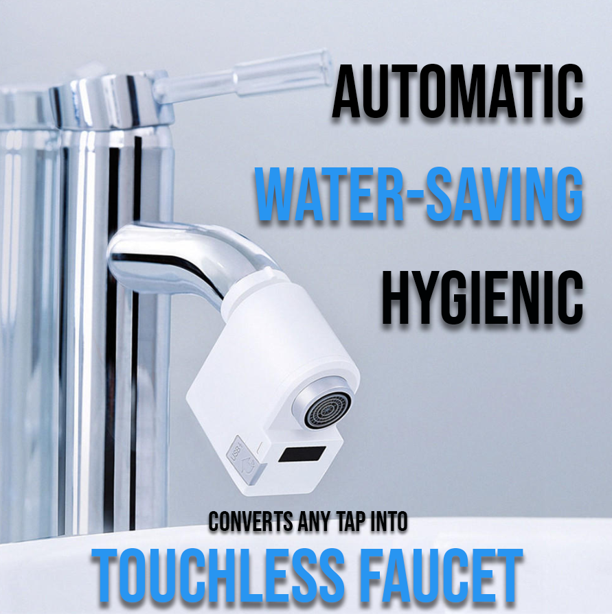ZAIJA™ Touchless Kitchen/Bathroom Faucet - Hygienic Hands-Free Automatic Sensor Tap adapter that converts any faucet into automatic one