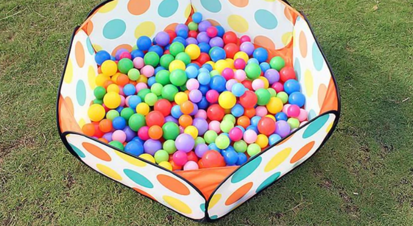 FitC™ 100pc Plastic Ball Pit Balls Pack for Baby/Kids Ball Pool are made out of 100% recyclable plastic.