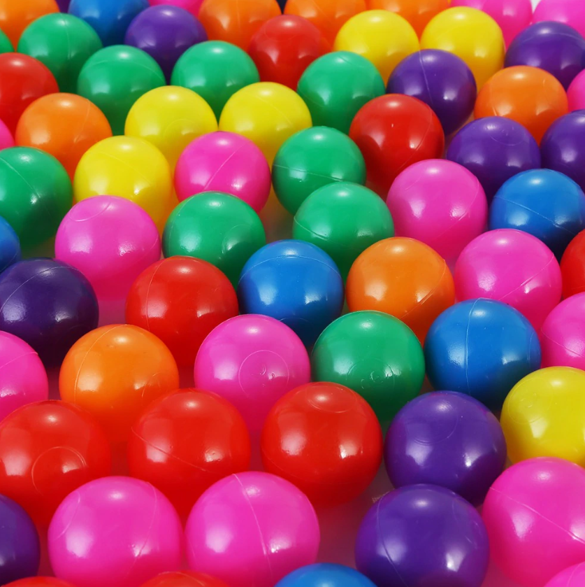 FitC™ 100pc Plastic Ball Pit Balls Pack for Baby/Kids Ball Pool