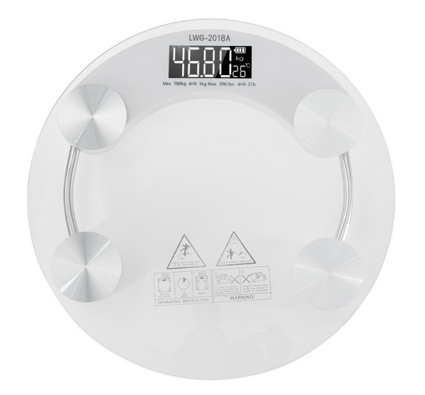 WeighMe™ Digital Body Electronic Weighing Scale LCD