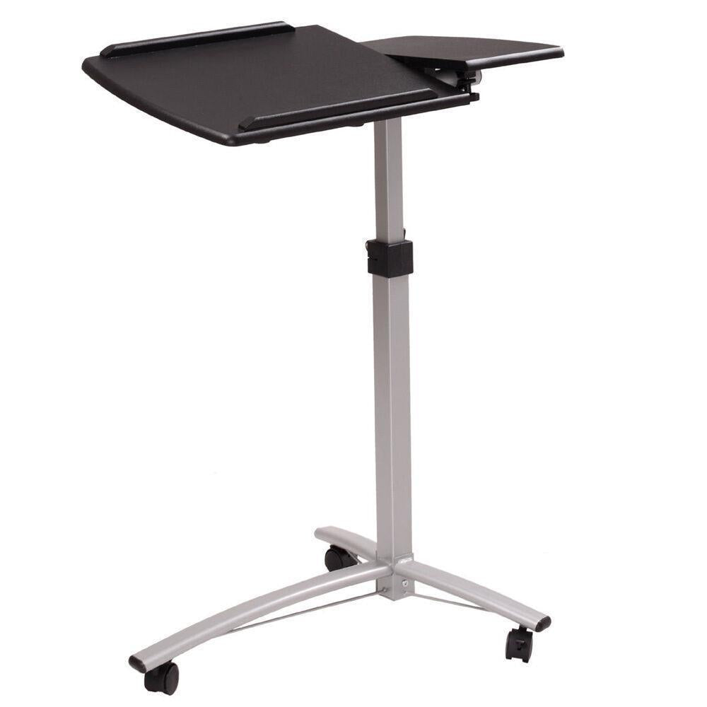 HoldMe™ Laptop Rolling Desk Adjustable Tilt Stand Bed Side Table