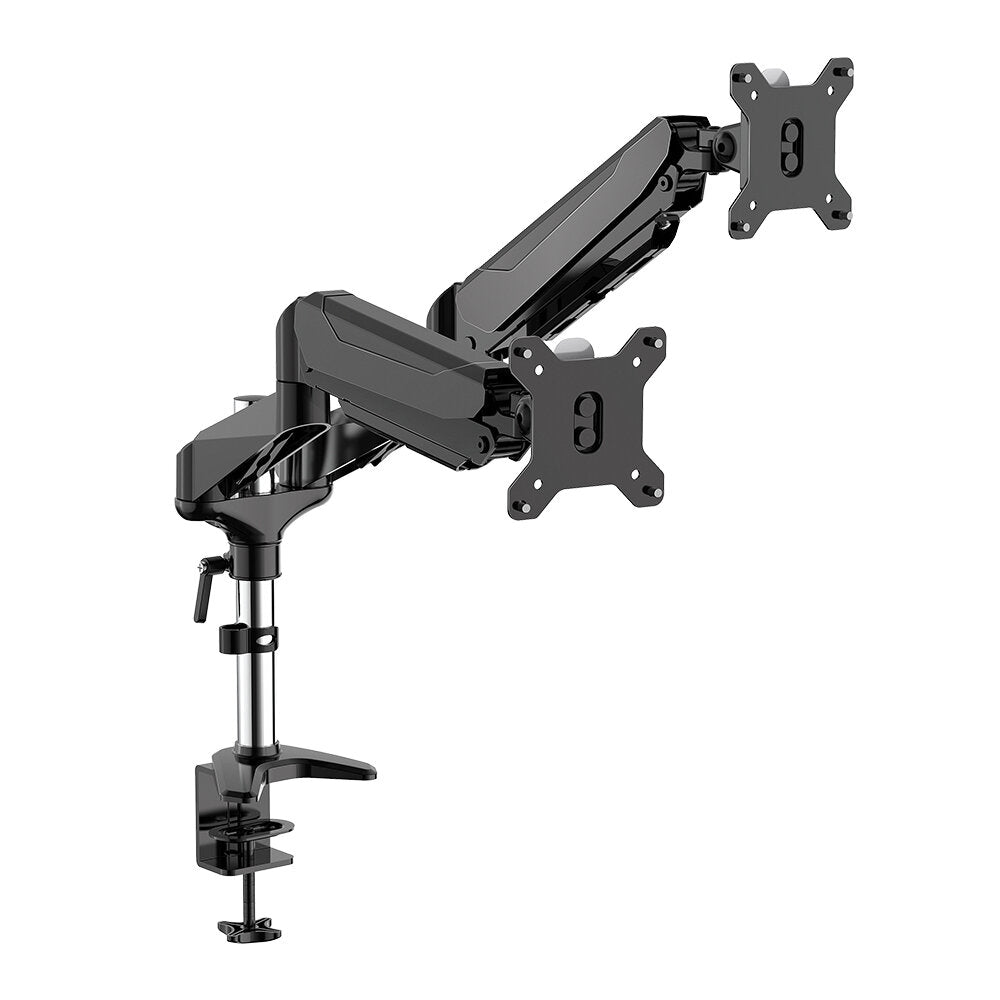 "HoldMe™  Pneumatic Adjustable 32"" Dual Monitor Stand Arm Desk Mount"