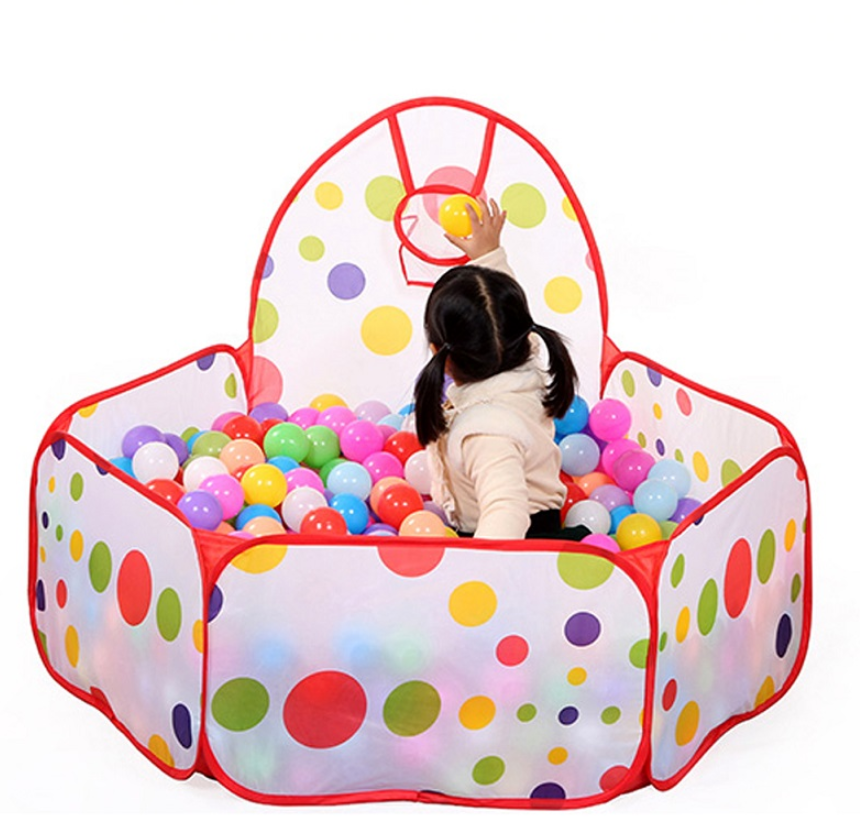 FitC™ Foldable Indoor/Outdoor Baby Ball Pit Playpen for Kids w/t Ball Hop come with a hope.