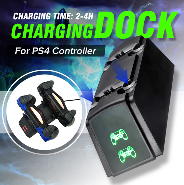 X-Charger™ Wireless Dual PS4 Controller Charging Dock Stand Station