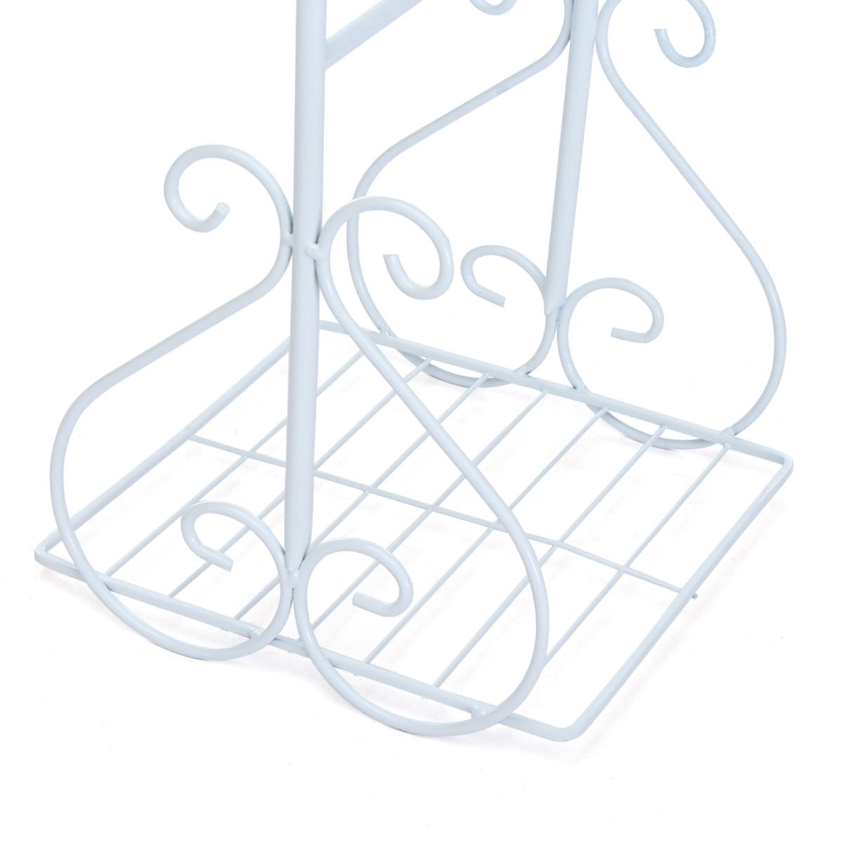 PotMe™ White & Bronze 4-Tier Metal Indoor/Outdoor Potted Flower Pot Plant Stand